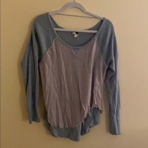 Free People two layer long sleeve shirt